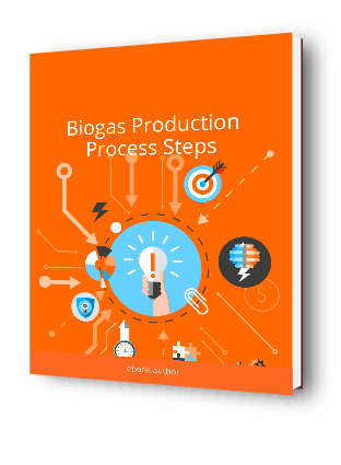 Image of the Biogas Production Process Steps pdf version 3D cover.
