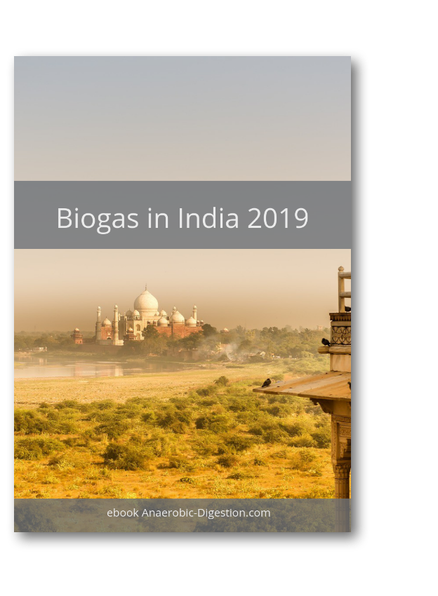 Image shows the cover of the free biogas India pdf, which is available here to download.