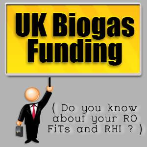 The incentive funds for UK Biogas