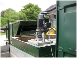 A view of one of the anaerobic digestion pumps/ a chopper pump Landia supplied.