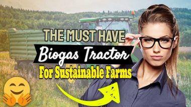 "Featured Image: ""Biogas tractor for sustainable farms""."
