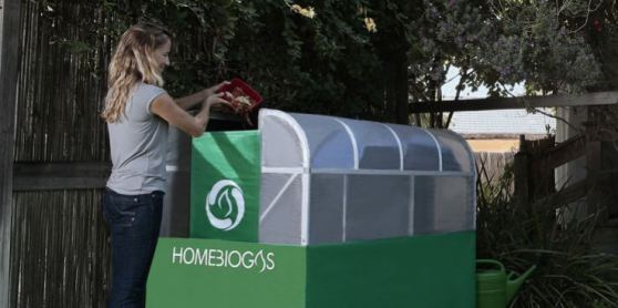 illustration shows home biogas from a HomeBiogas Plant