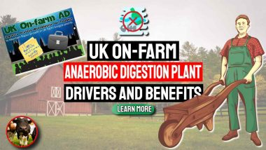 """Image text: """"UK On-farm Anaerobic Digestion Plant Drivers and Benefits""""."""