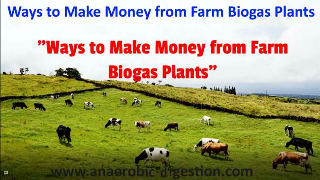 Sourves of money from biogas plants