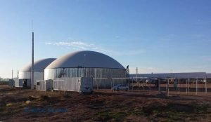 Existing biogas plant in Uruguay built at the farm already by Weltec Biopower
