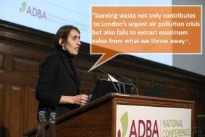 Image shows Charlotte Morton talking at the ADBA - National Conference