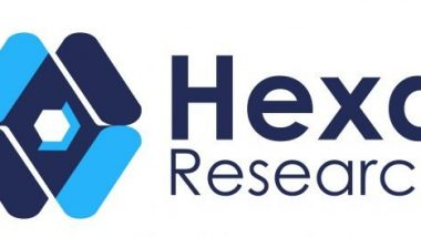 Iamge shows logo of Hexa Reaserch on the bioplastics industry.