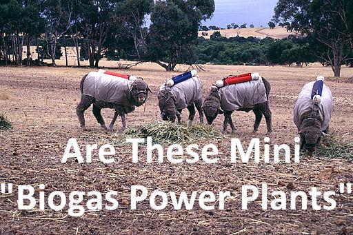 Amusing image of a potential 4 legged biogas power plants.