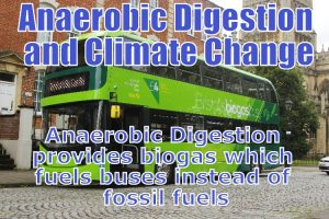 Image features one example of how anaerobic digestion and climate change reduction is linked.