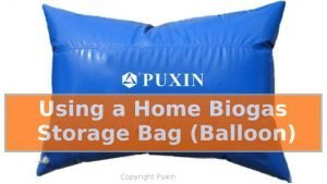 Image shows a Using a Home Biogas Storage Bag.