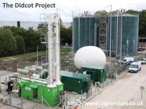 Image shows biomethane upgrade equipment at AD plant.