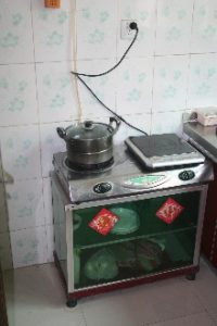 Domestic biogas stoves like this are often made in China.