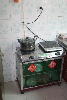 Biogas is used in kitchens for cooking as in this picture.
