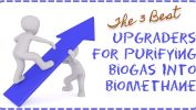 Image is a graphic about selecting a biogas upgrader technology for biomethane upgrading