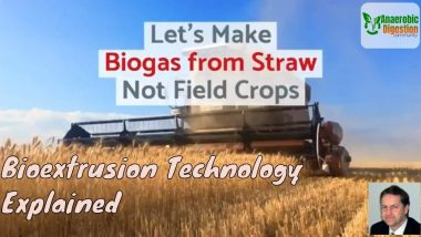 Biogas from crop residues, not the grain/ food crop.