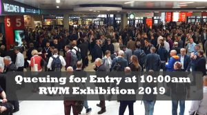 Image shows the early entry queue for the successful RWM 2019 event.
