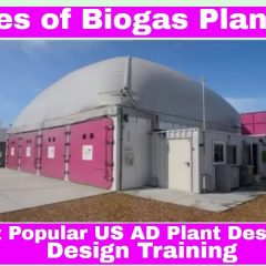 """Image shows the """"types of Biogas Plant"""" video thumbnail for a batch type AD Plant."""