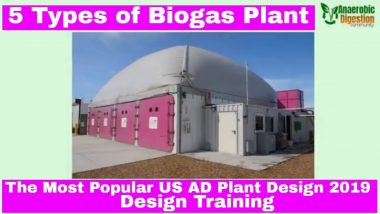 "Image shows the ""types of Biogas Plant"" video thumbnail for a batch type AD Plant."