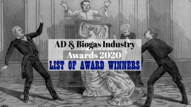 """Image with text: """"AD and Biogas Industry Award Winners 2020""""."""