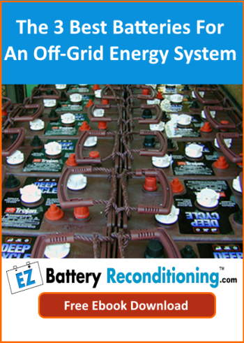 "Image with text: ""Best batteries for off-grid energy storage Ebook""."