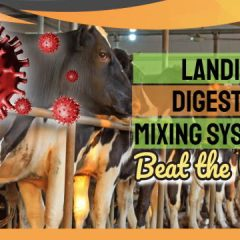 "Landia Biogas Mixing system Image with the text: ""How Landia GasMix orders beat the virus."""