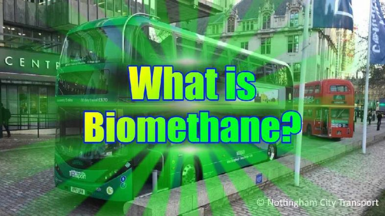 "Featured image text: ""What is Biomethane?""."