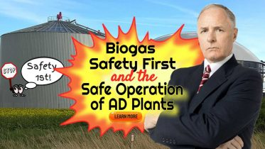 "Featured image text: ""Biogas Safety First""."