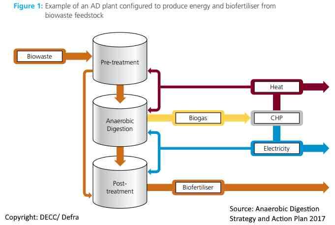 Anaerobic digestion plant process schematic.