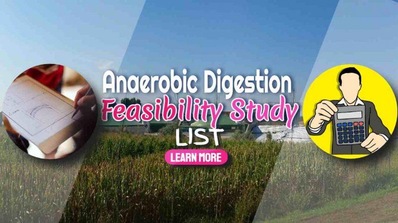 "Image text: ""Anareobic Digestion Feasibility Study List""."