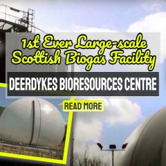 """Image text: """"Food Waste Recycling in Scotland at Deerdykes""""."""