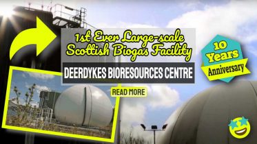 "Image text: ""Food Waste Recycling in Scotland at Deerdykes""."