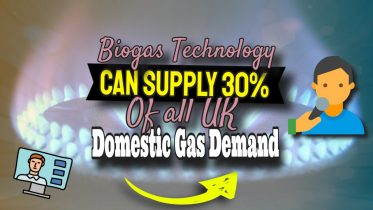 """Image text states: """"Anaerobic digestion and biogas can supply 30% of UK domestic gas demand."""""""