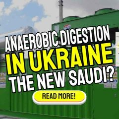 """Image with text: """"Anaerobic Digestion in Ukraine""""."""