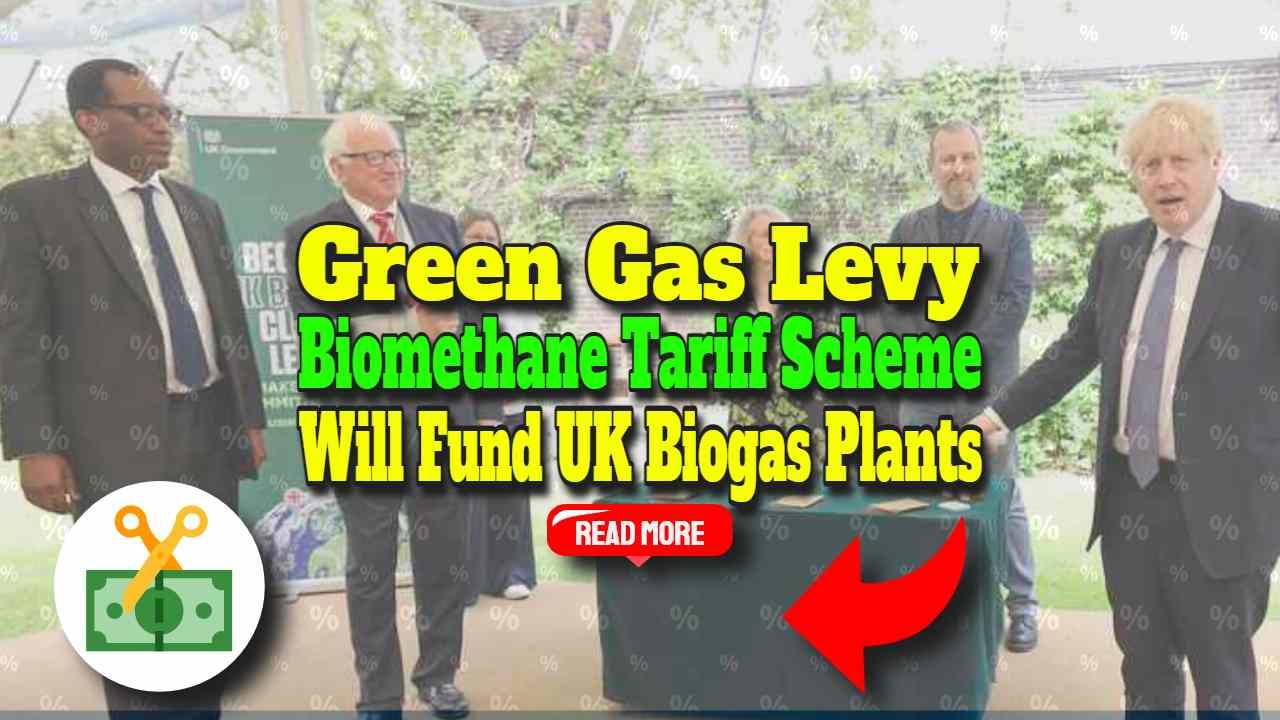 "Image text: ""Green Gas Levy Biomethane Plants Tariff""."