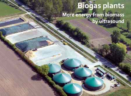 Image shows Biogas Plant, to illustrate How to increase biogas production with ultrasound destructors.