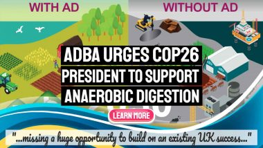 """Image text: """"ADBA Urges COP26 President to Support Anaerobic Digestion""""."""